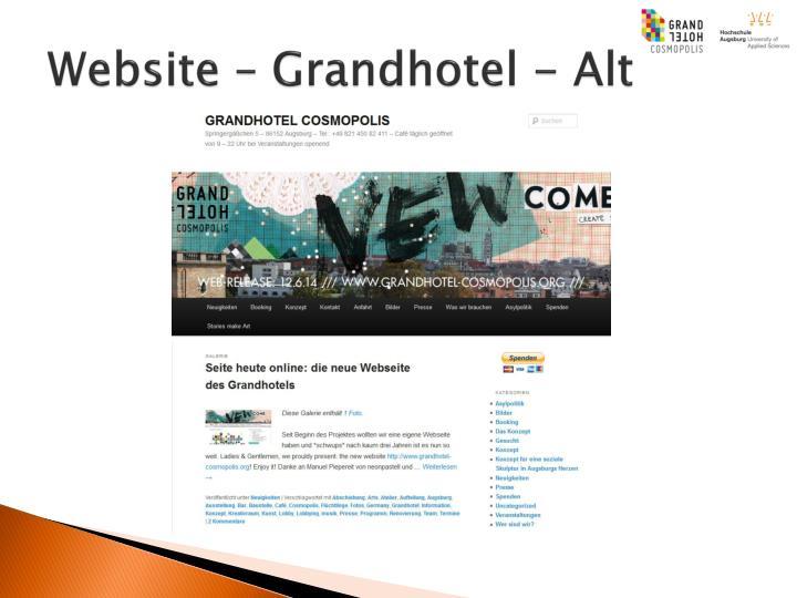 Website – Grandhotel - Alt