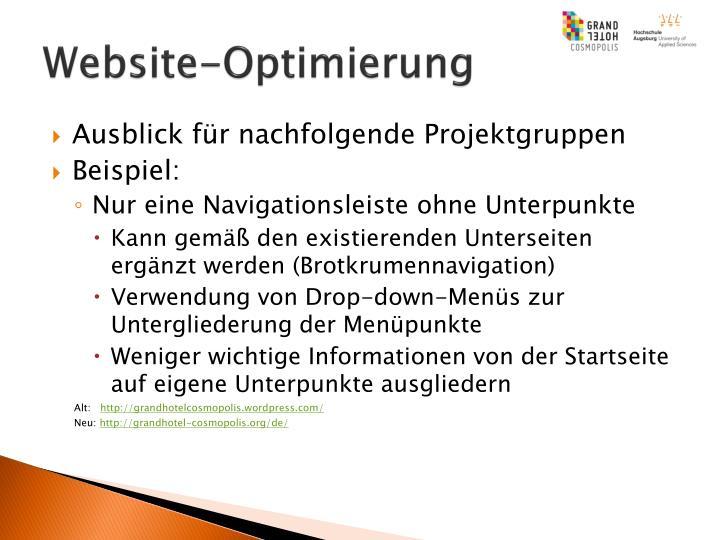 Website-Optimierung