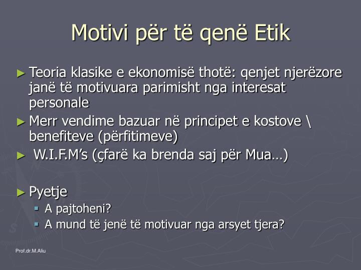 Motivi p