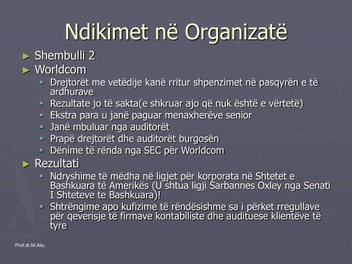 Ndikimet në Organizatë
