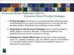 consumer driven healthcare calls for consumer driven provider strategies