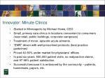 innovator minute clinics