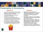 predictability consistency