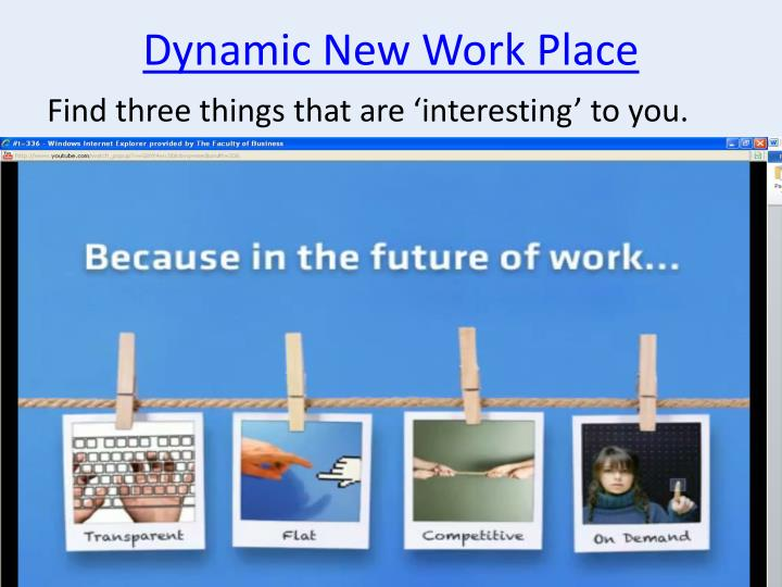 Dynamic New Work Place