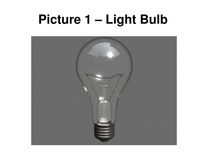 Picture 1 – Light Bulb