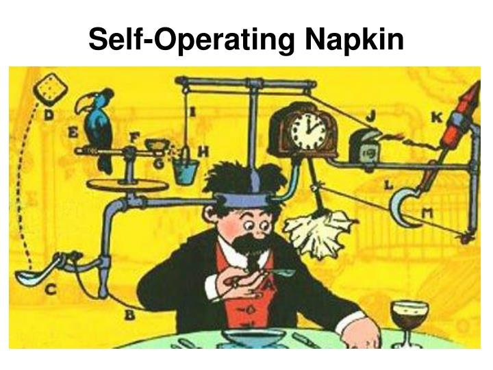 Self-Operating Napkin