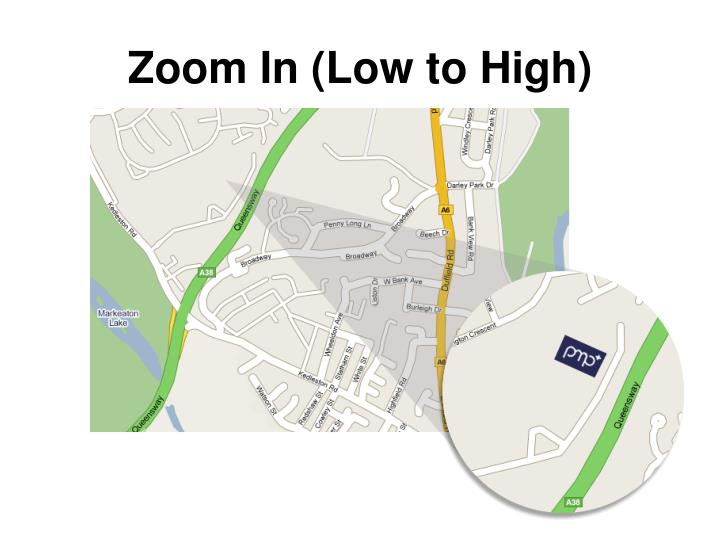 Zoom In (Low to High)