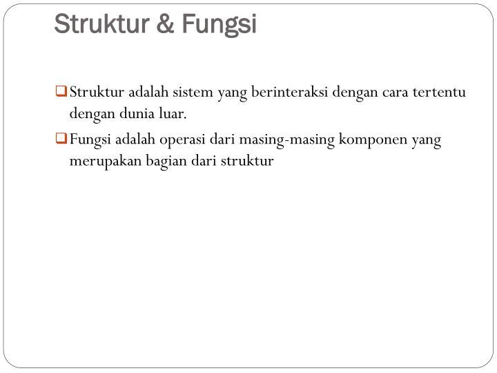 Struktur & Fungsi