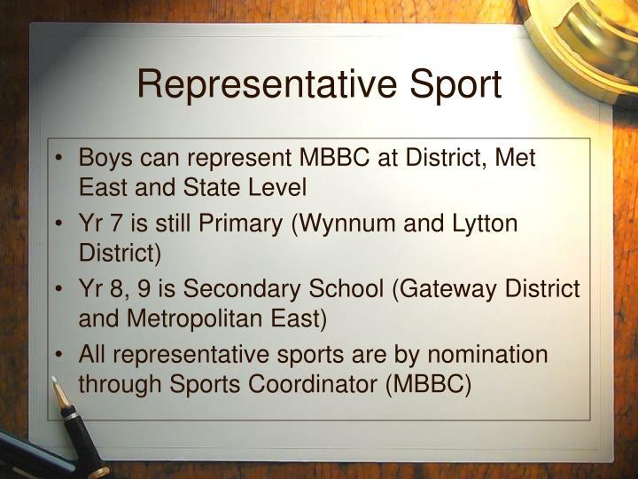 Representative Sport