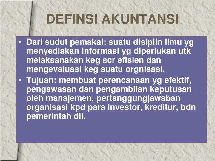 Definsi akuntansi