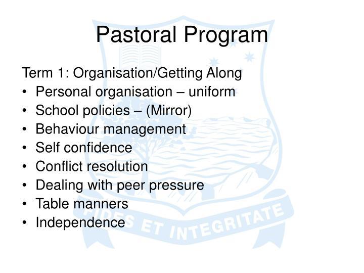 Pastoral program