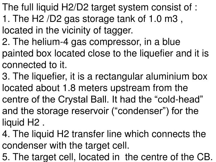 The full liquid H2/D2 target system consist of :