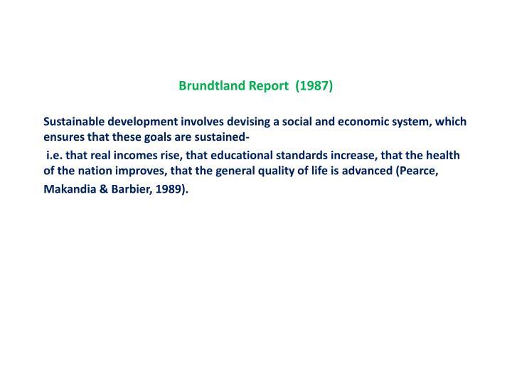 Brundtland Report  (1987)