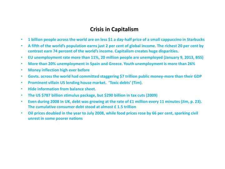 Crisis in Capitalism