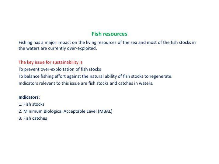Fish resources