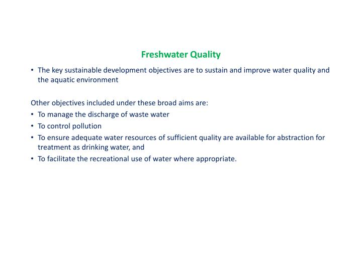 Freshwater Quality