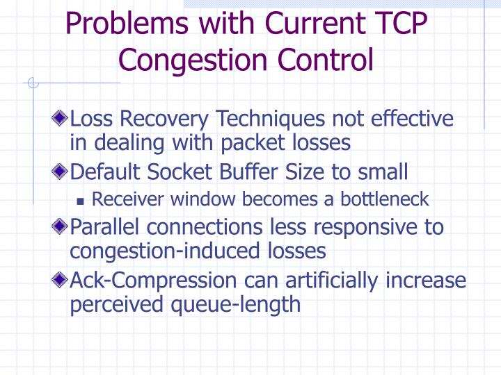 Problems with Current TCP Congestion Control