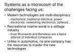 systems as a microcosm of the challenges facing us