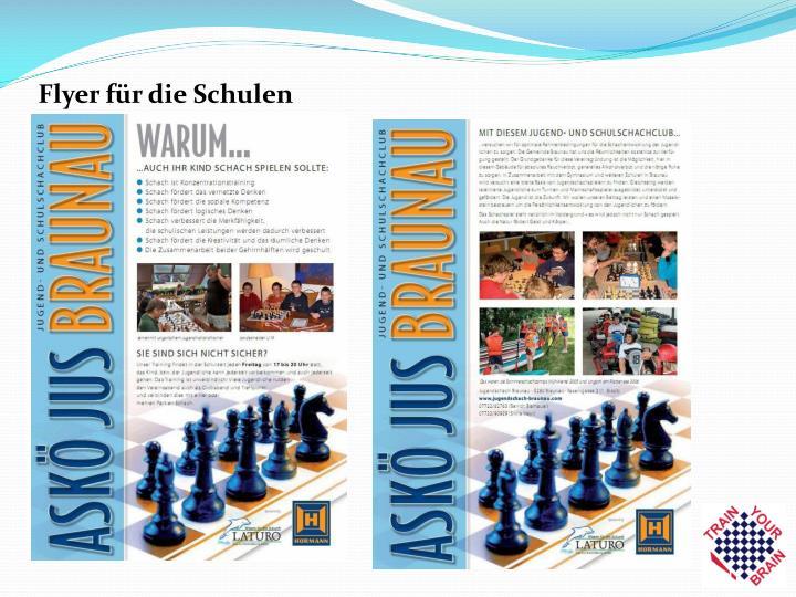 Flyer für die Schulen