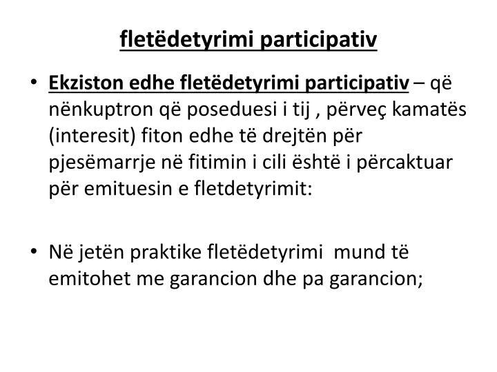 fletëdetyrimi participativ