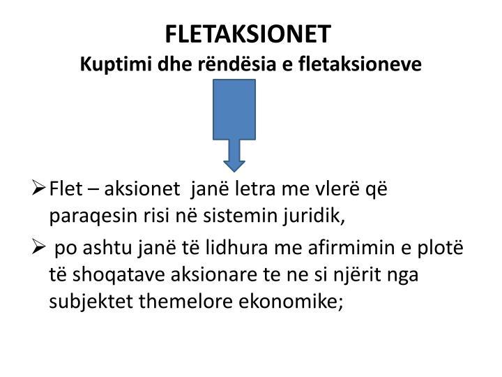 FLETAKSIONET