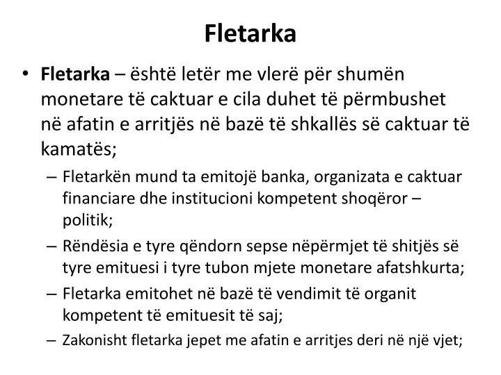 Fletarka