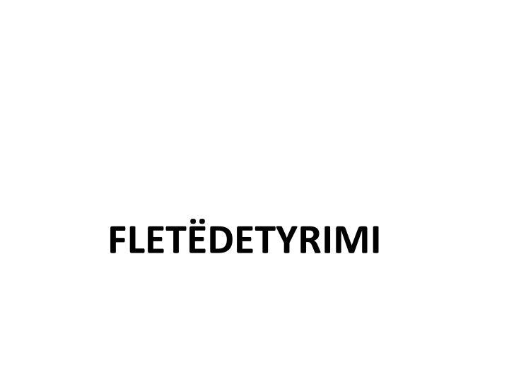 FLETËDETYRIMI