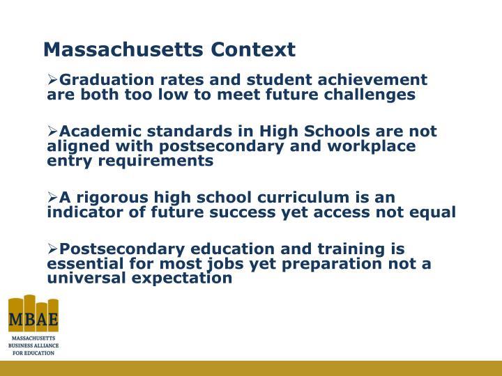 Massachusetts Context