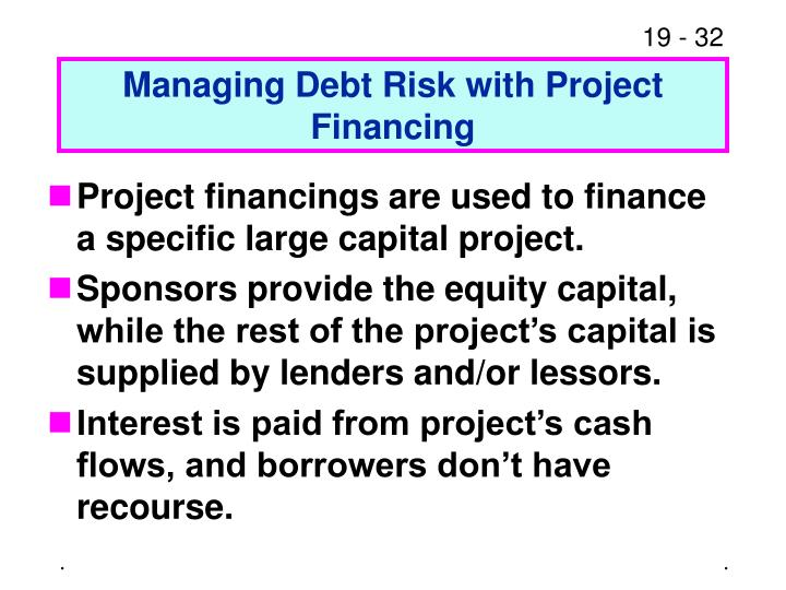 Managing Debt Risk with Project Financing