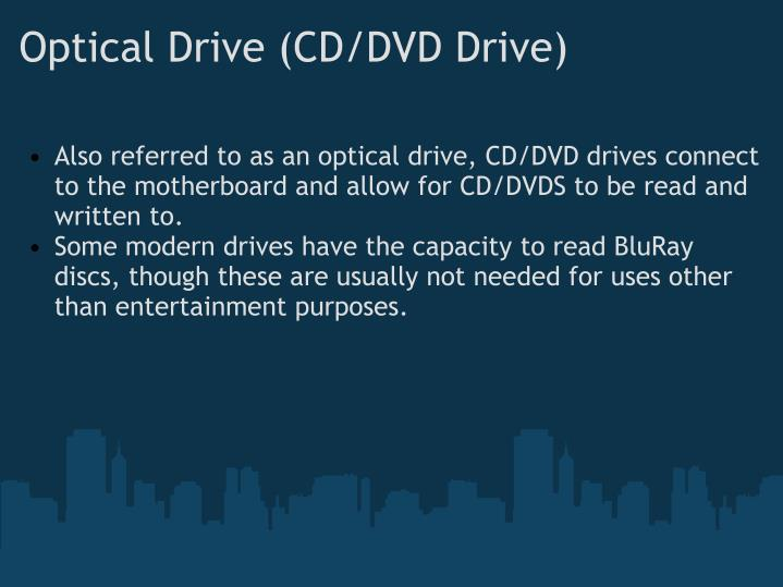 Optical Drive (CD/DVD Drive)