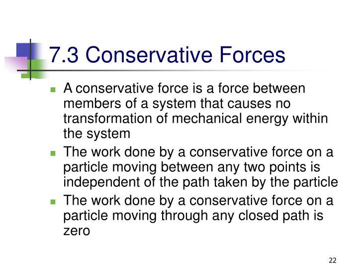 7.3 Conservative Forces