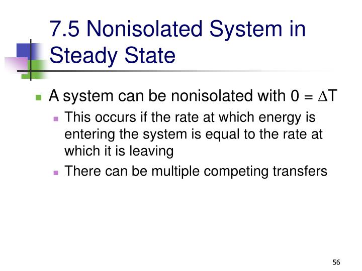 7.5 Nonisolated System in Steady State