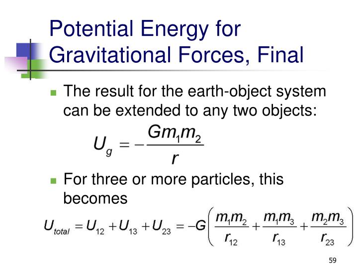 Potential Energy for Gravitational Forces, Final