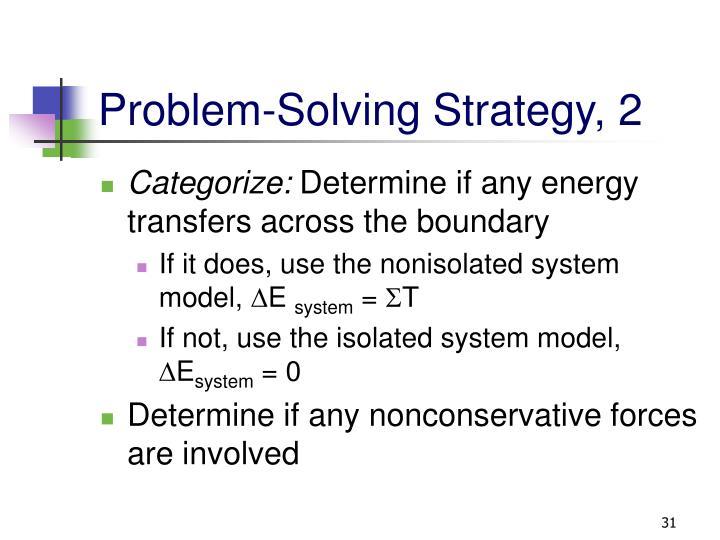 Problem-Solving Strategy, 2