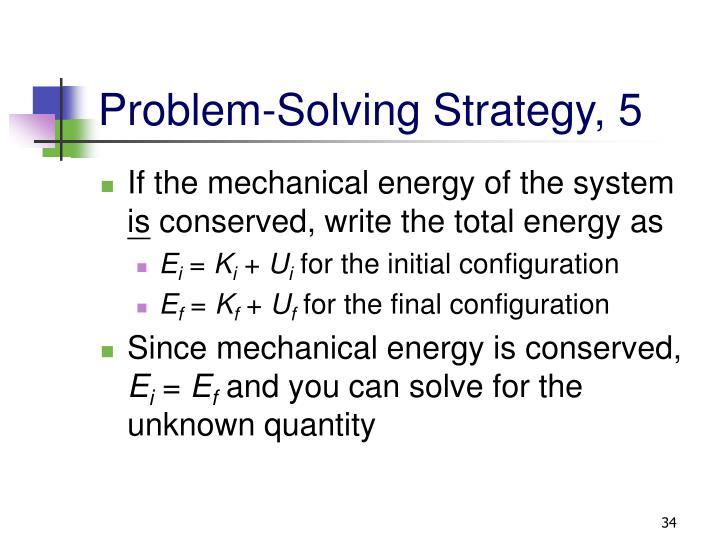 Problem-Solving Strategy, 5