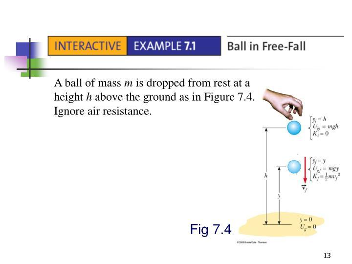 A ball of mass