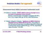 prediction models our approach