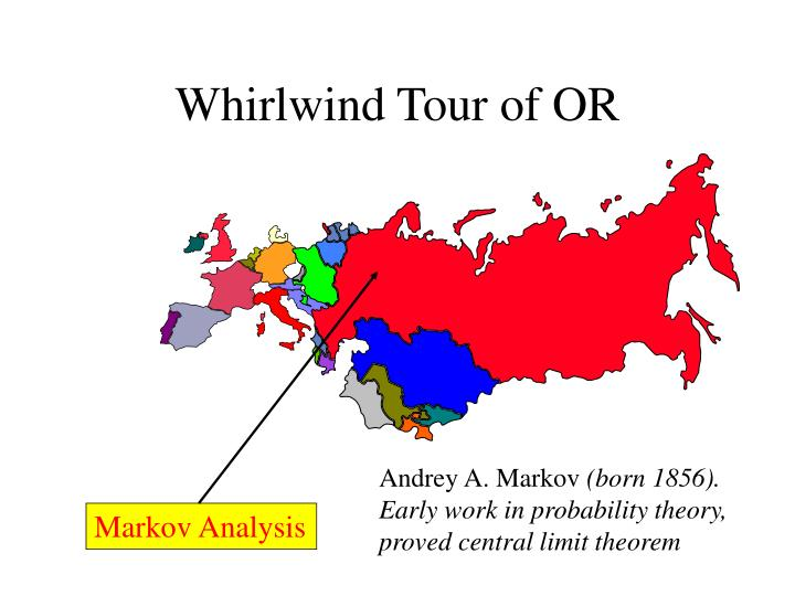 Whirlwind tour of or