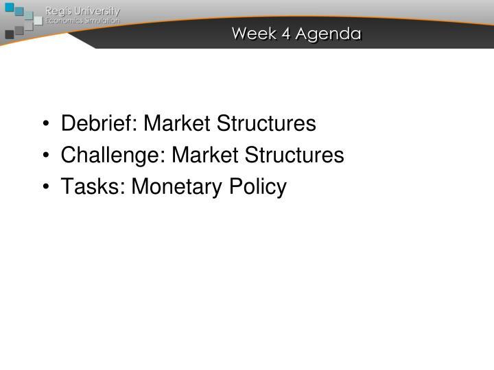 Week 4 Agenda