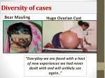 diversity of cases