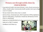 primary care through mobile clinics by chad ruhsa