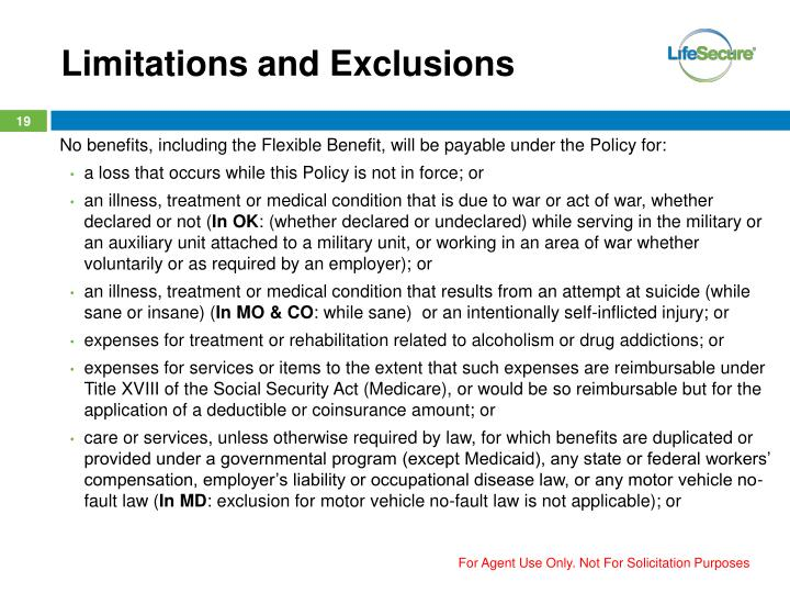 Limitations and Exclusions