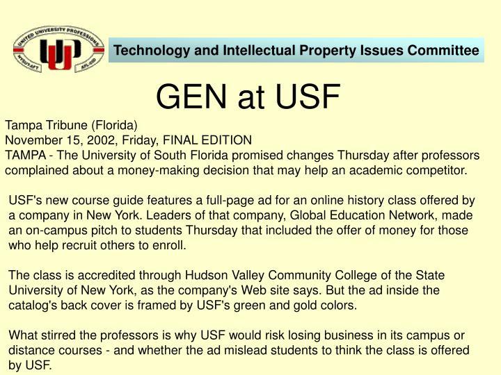 GEN at USF