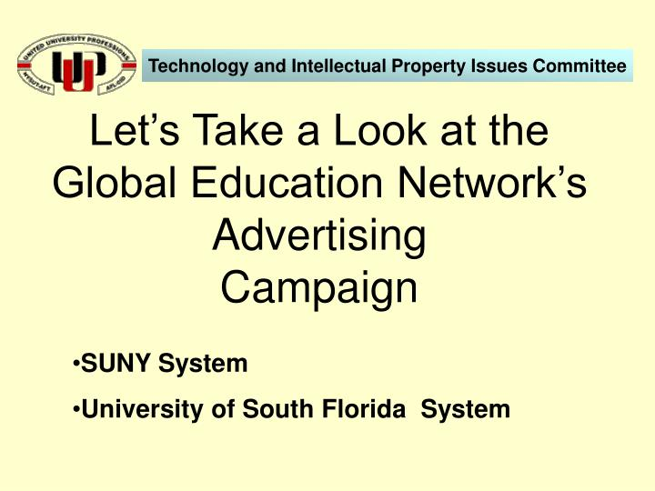 Let's Take a Look at the Global Education Network's Advertising