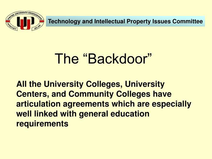 """The """"Backdoor"""""""