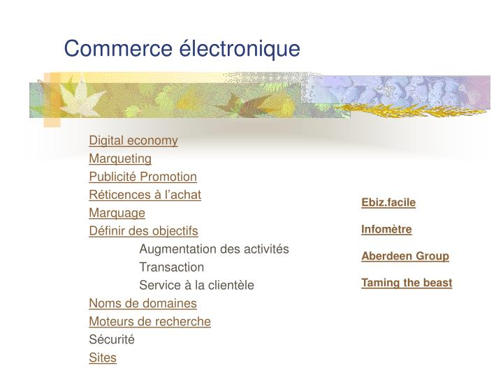 commerce lectronique n.