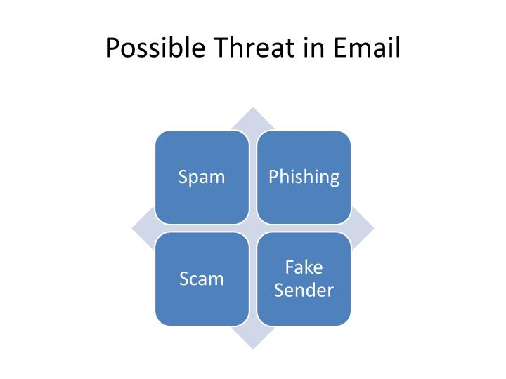 Possible Threat in Email