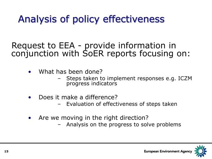 Analysis of policy effectiveness