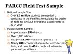 parcc field test sample