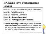 parcc five performance levels